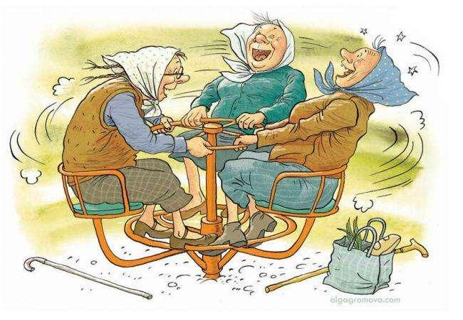 Веселі бабусі і дідусі в роботах Ольги Громової (27 фото)