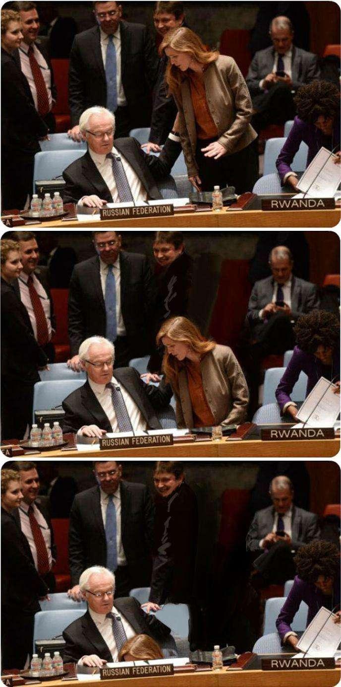 Фотожаба на конфлікт між Самантою Пауерс і Віталієм Чуркіним (21 фото)