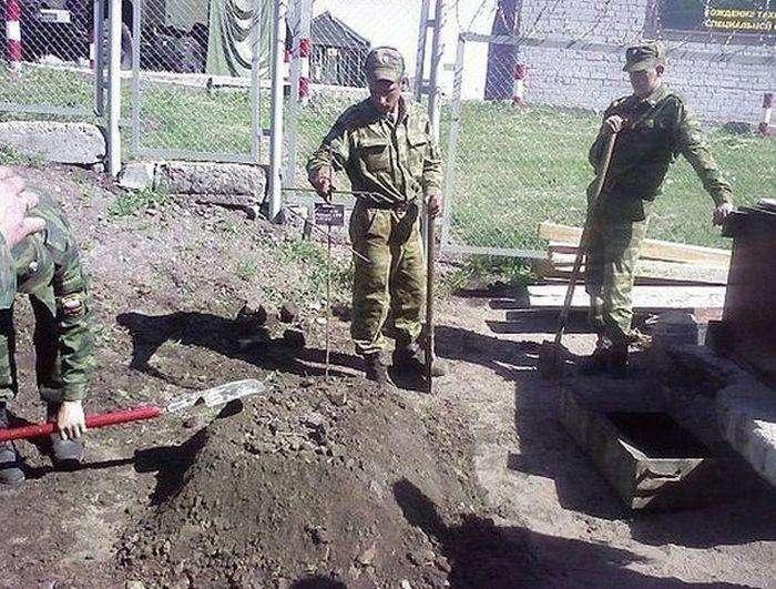 Похорони бичка під час служби в армії (8 фото)
